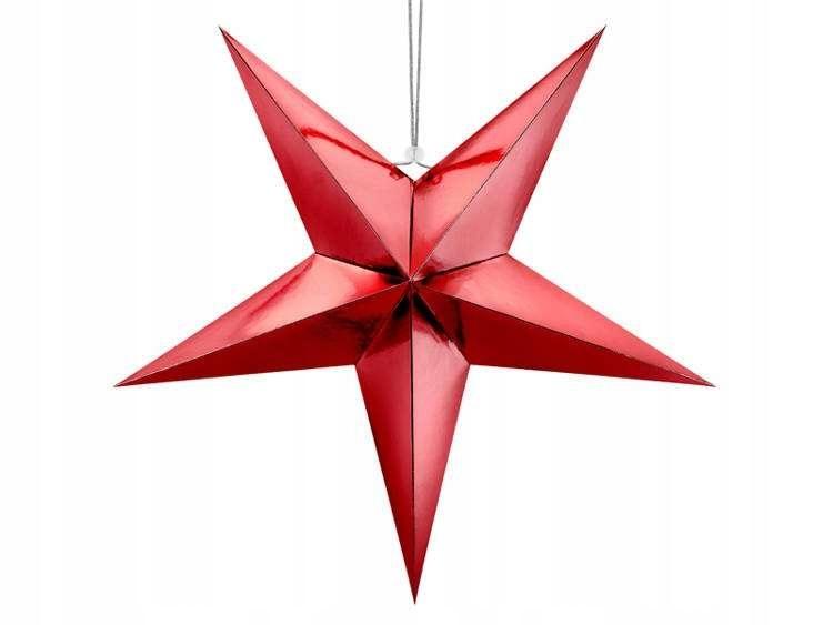 Gwiazda papierowa, 70cm, czerwony