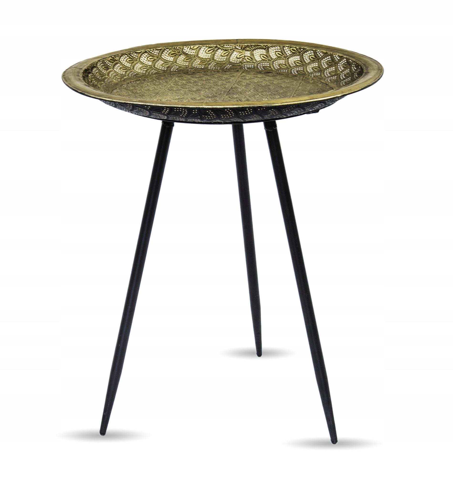 Štýlový kovový konferenčný stolík, retro utierací stolík