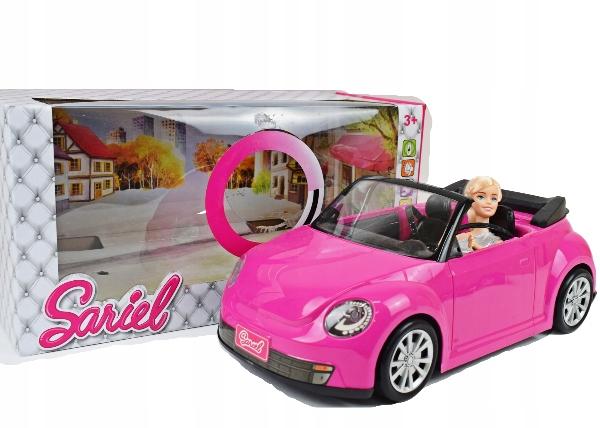 Pink CAR pre bábiky CABRIOLET si barbi DOLL