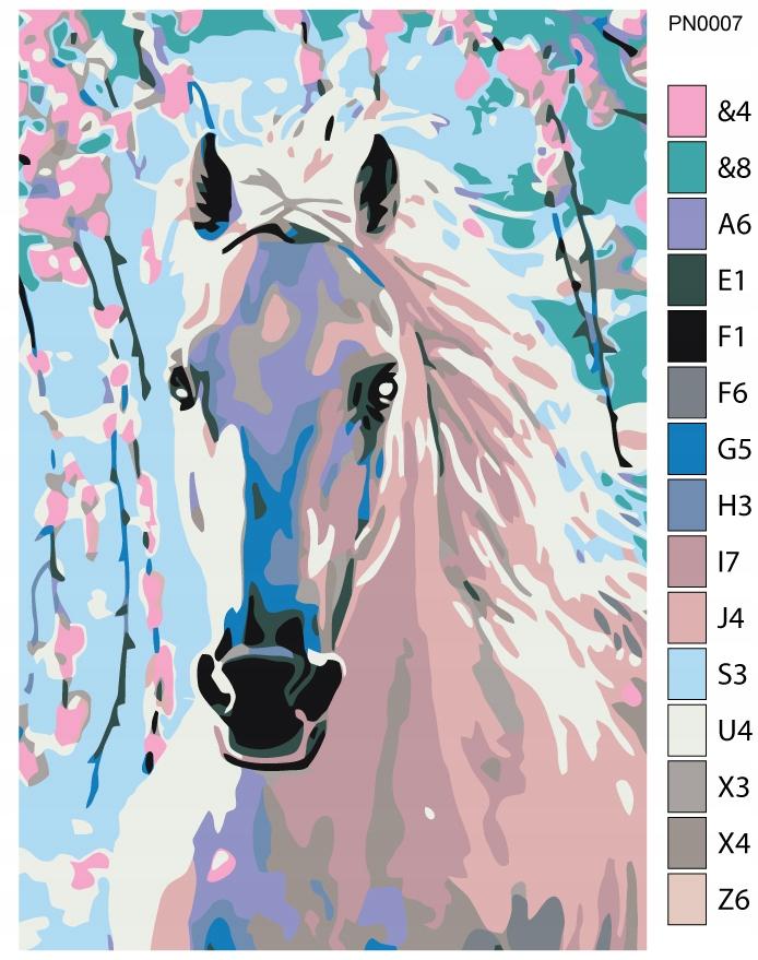 Obraz do malowania farbami - Koń - 20x30 cm
