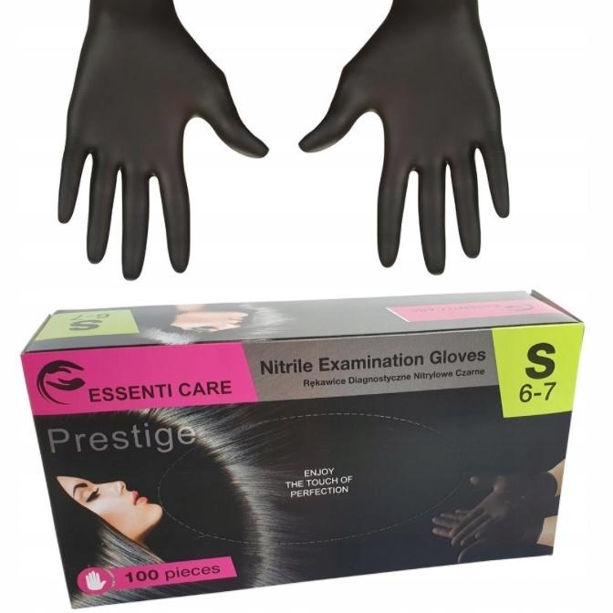 Престиж Essenti Уход Черный S Нитриле перчатки