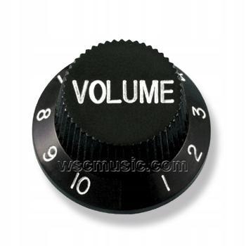 Potenciometer Knob objem čierny typ Stratocaster