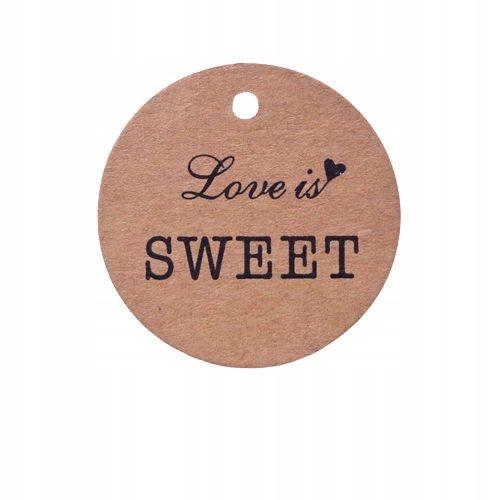 Этикетка картонная с ниткой Love Sweet 100шт.