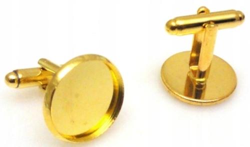 Baza spinki do mankietów 1 komplet kolor złoty