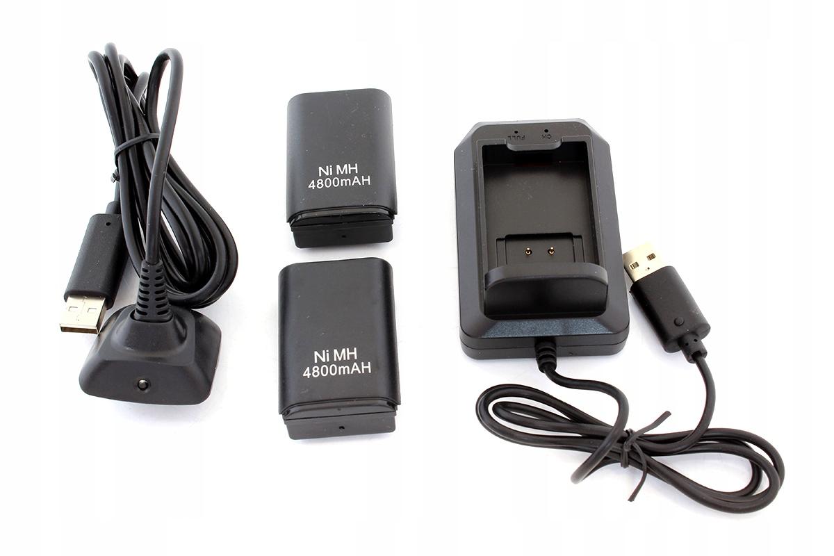 KX7A ŁADOWARKA XBOX 360 2x BATERIA + KABEL USB