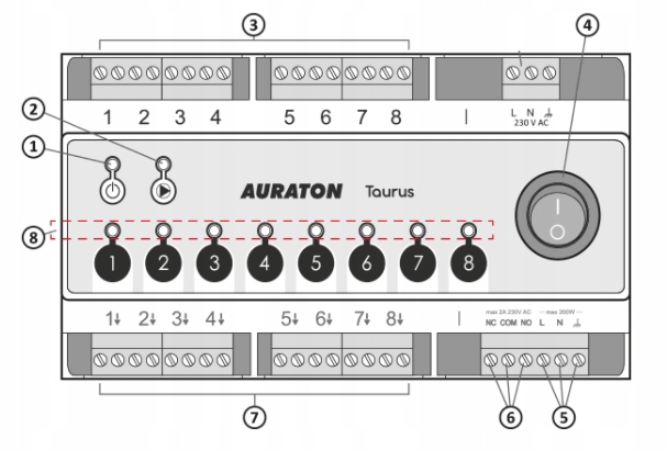 AURATON TAURUS- LISTWA OGRZEWANIA PODŁOGOWEGO Kod producenta AUR00TRS00000