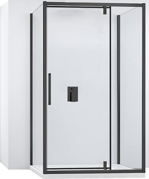 Čierna Nástenná sklopná kabína 100x140 cm Rea