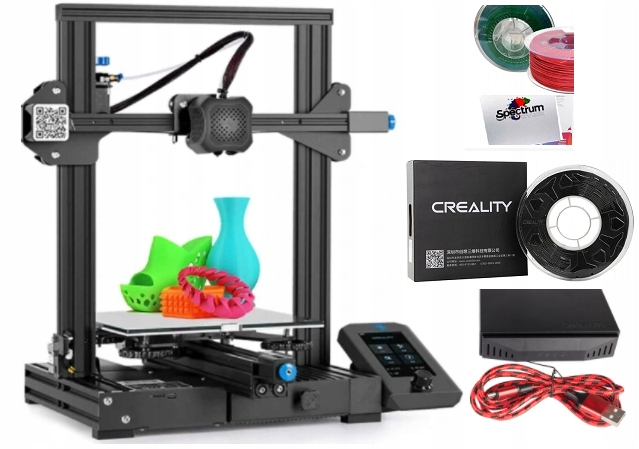 Najnowsza Creality 3D Ender 3 v2 + 2 KG filament
