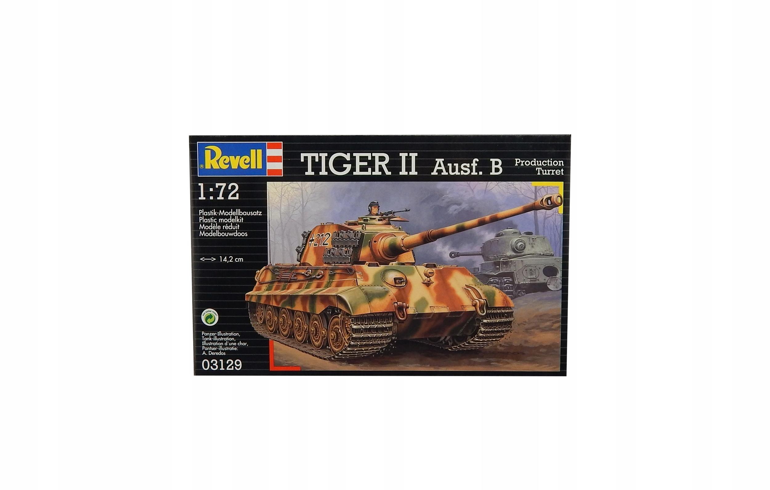 A7700 Model do sklejania czołg TIGER II AUSF.B