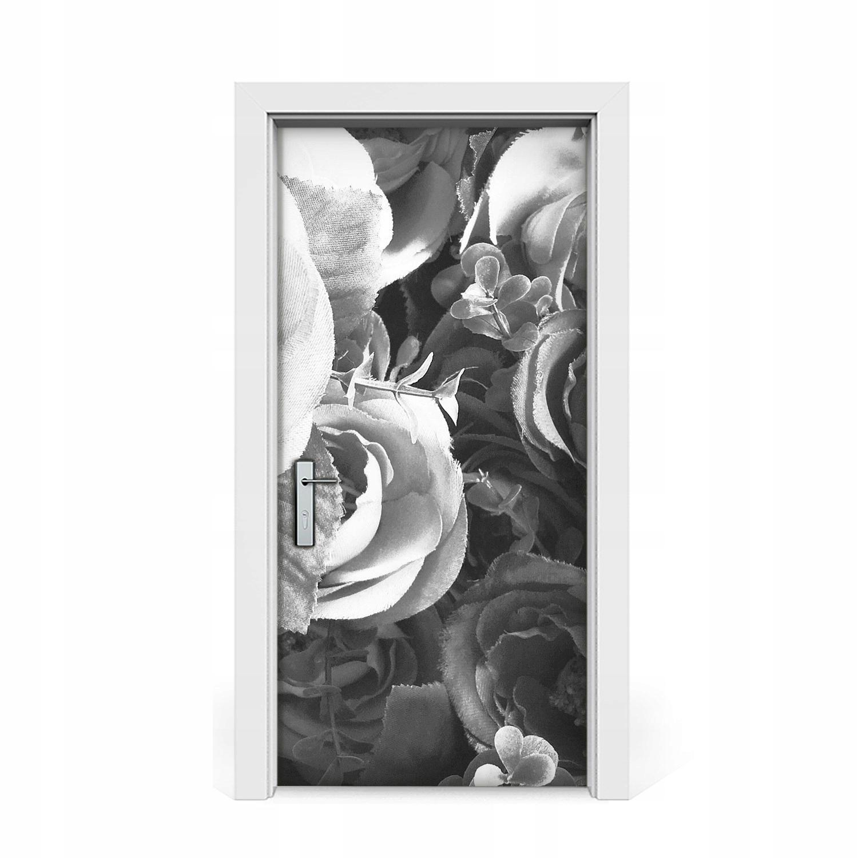 Nálepka na dvere Retro ruže 95x205