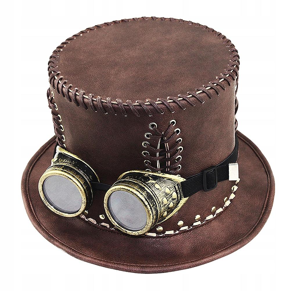 1 ks Priemyselná steampunk čiapka v retro štýle