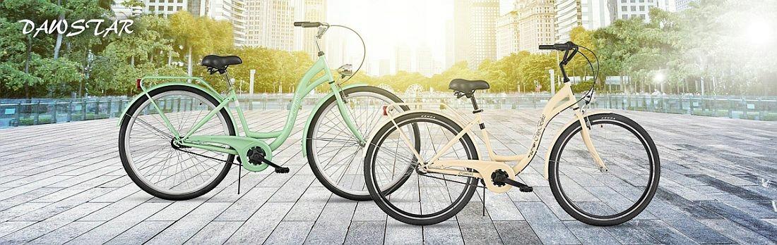 Mestský bicykel Dámsky Citybike 26 palcov 7Running + KOŠÍK Veľkosť rámu 18 palcov