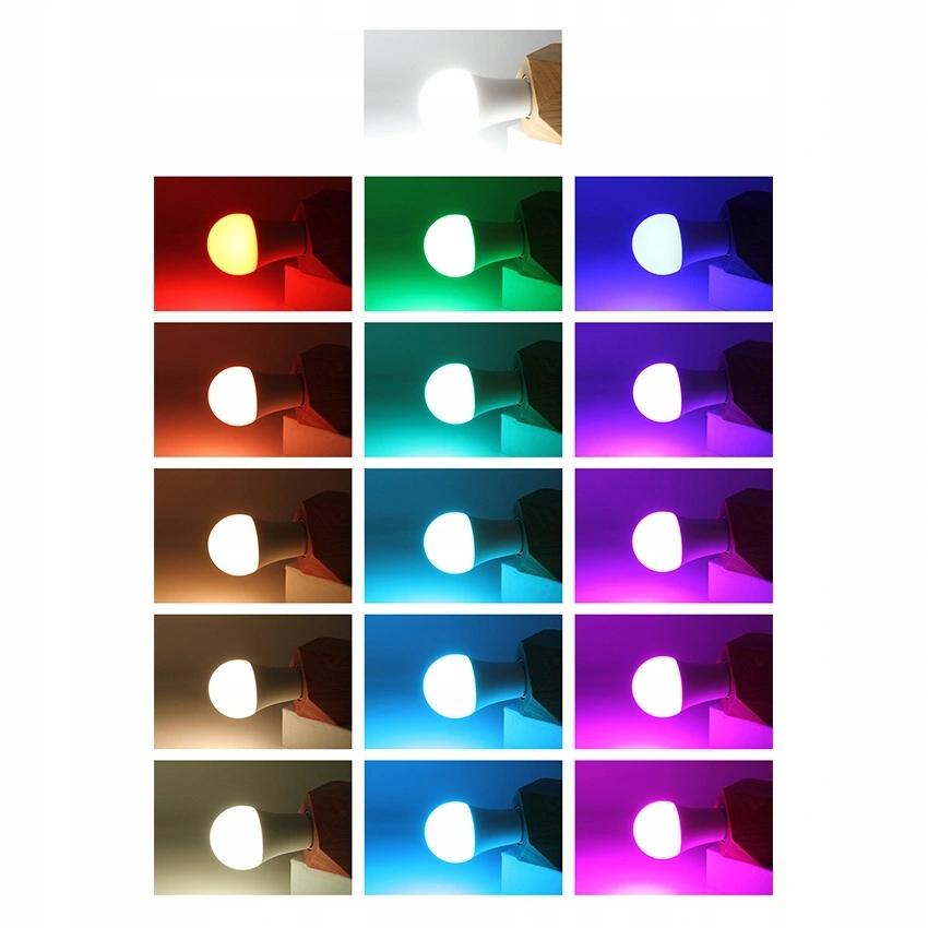 LED ŽIAROVKA s DIAĽKOVÝM RGB + BIELA KULIČKA E27, 10 W, farba mliečneho skla