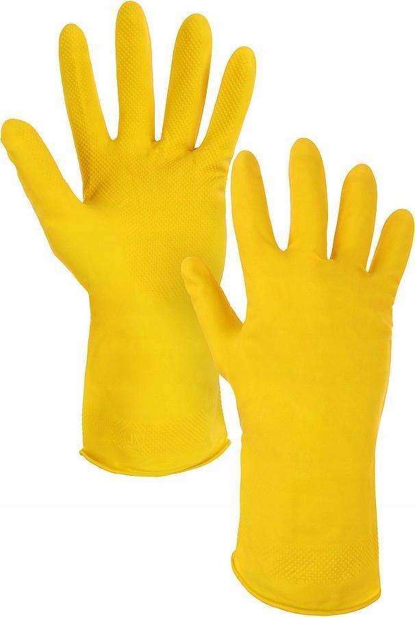 Rękawice robocze gumowe gospodarcze NINA 12 par 9