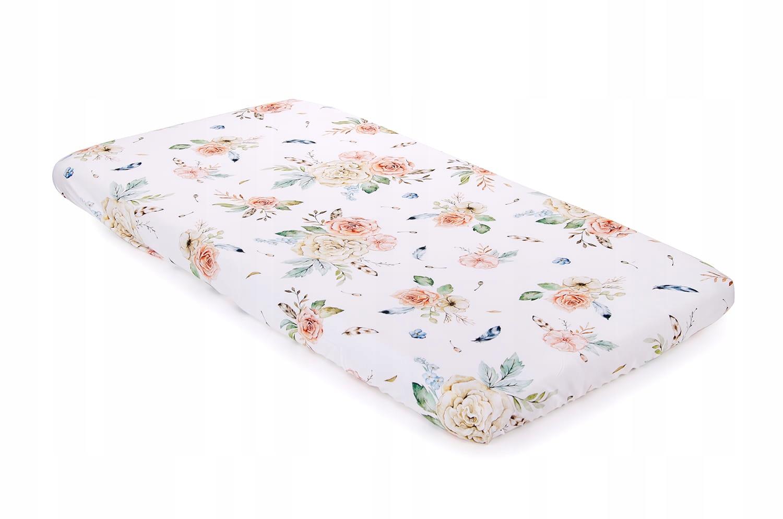 Bambusová posteľná plechové Retro Kvety 140x70
