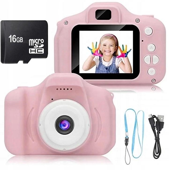APARAT FOTOGRAFICZNY DLA DZIECI HD 16GB SD + GRY