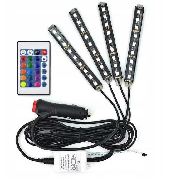 освещение интерьер автомобиля кабины rgb led + пульт