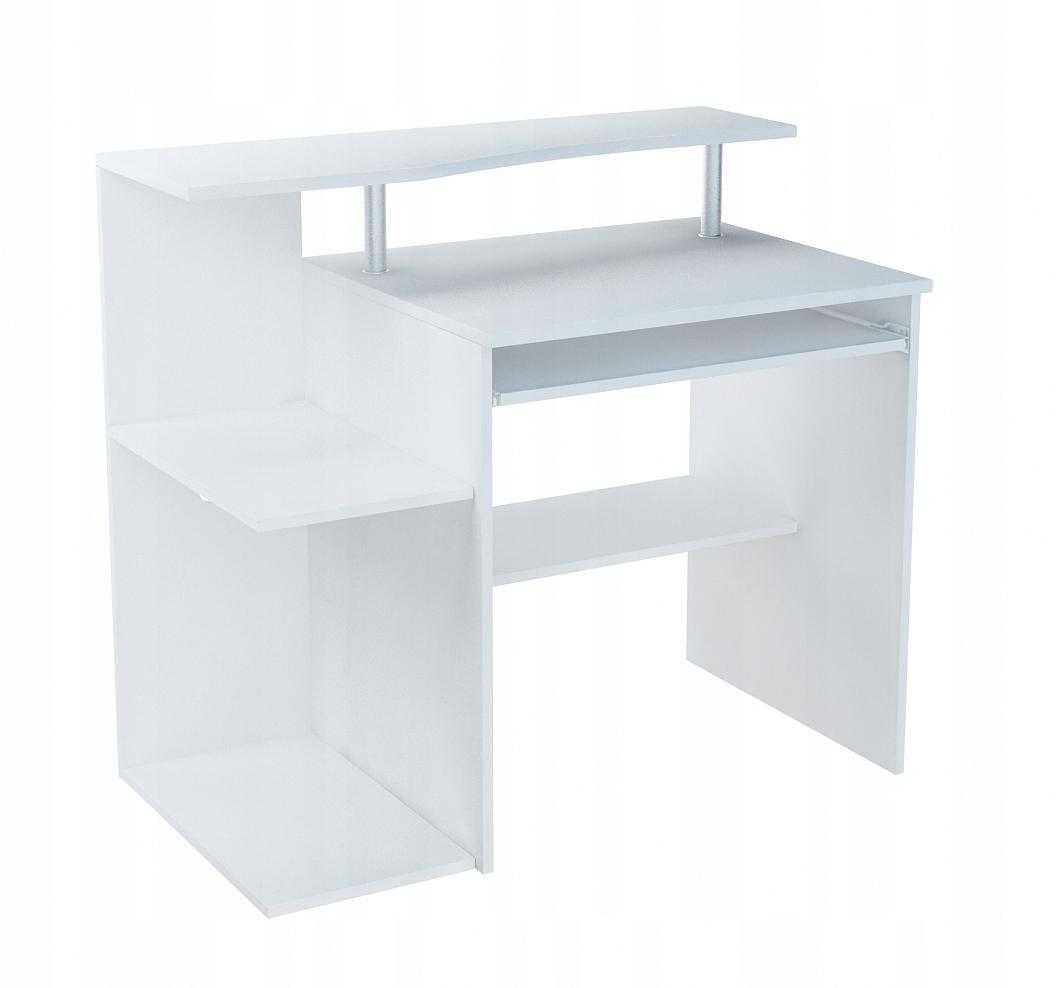 BIURKO białe stolik z półką B001 BIAŁY PRODUCENT