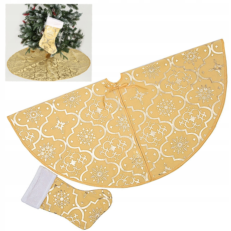 Zlatá sukňa na vianočný stromček + 1 ponožky