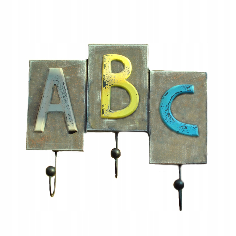 1PC Retro abeceda ABC háčiky na stenu šatňa Skle