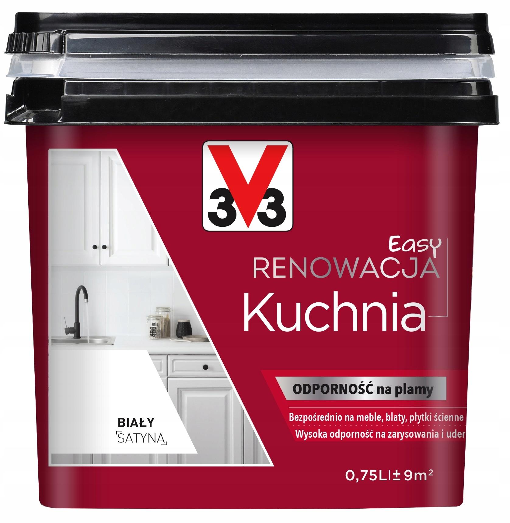V33 Farba Renowacja Kuchnia Meble Kuchenne 750ml 6057796493 Allegro Pl