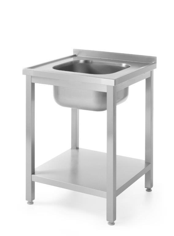 Stół ze zlewem i półką, skręcany 600x600x(H)850 mm