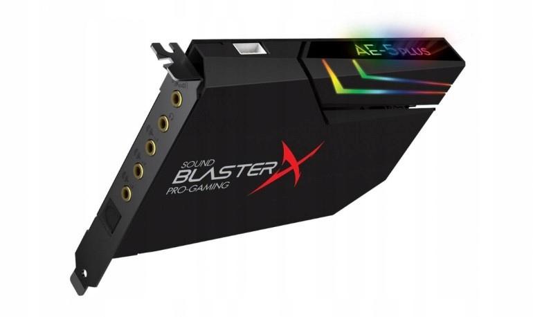 Купить Звуковая карта Sound Blaster X AE-5 Plus на Otpravka - цены и фото - доставка из Польши и стран Европы в Украину.