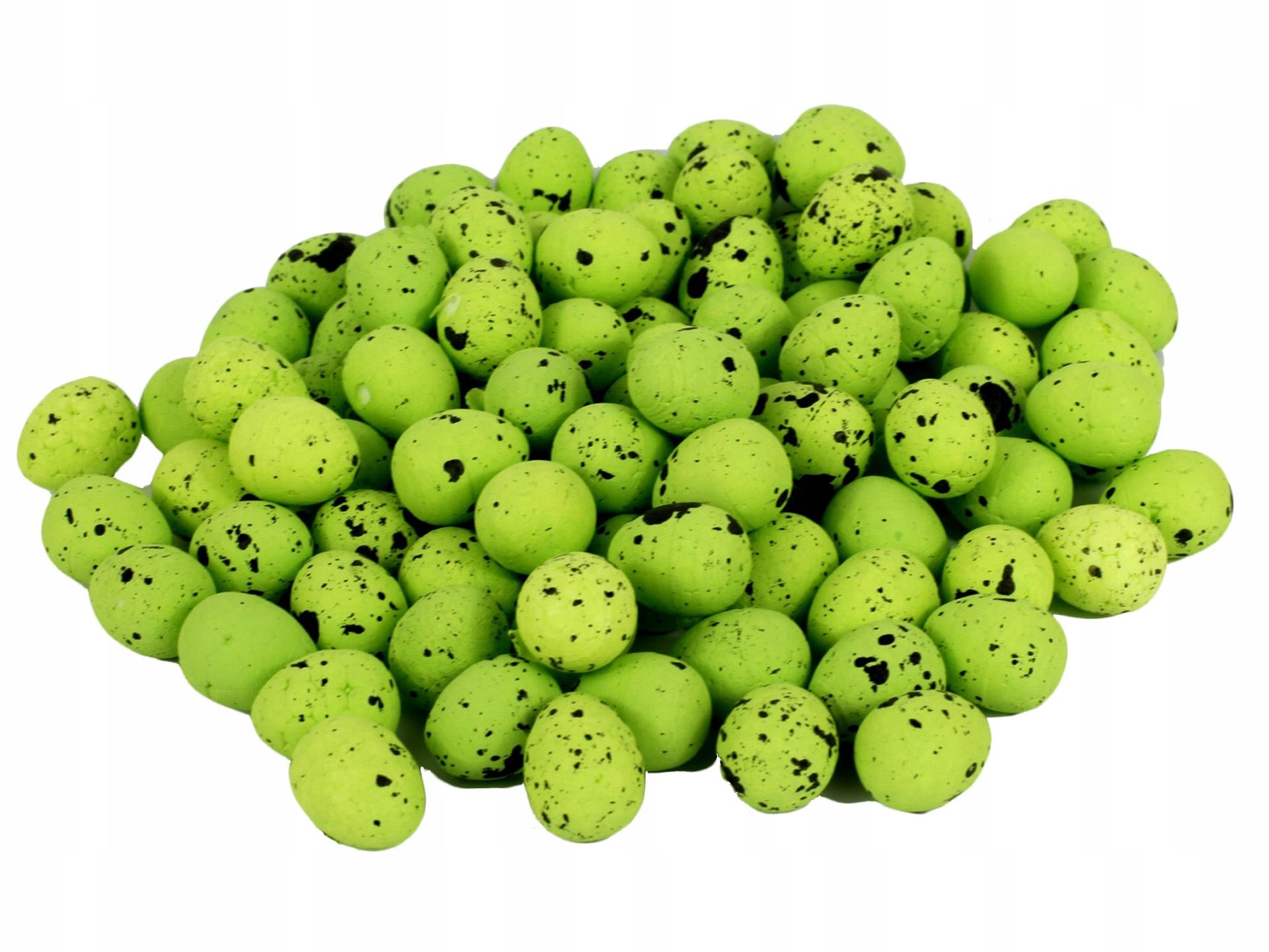 Styrofoam Eggs Speckled 2cm 100ks Zelená