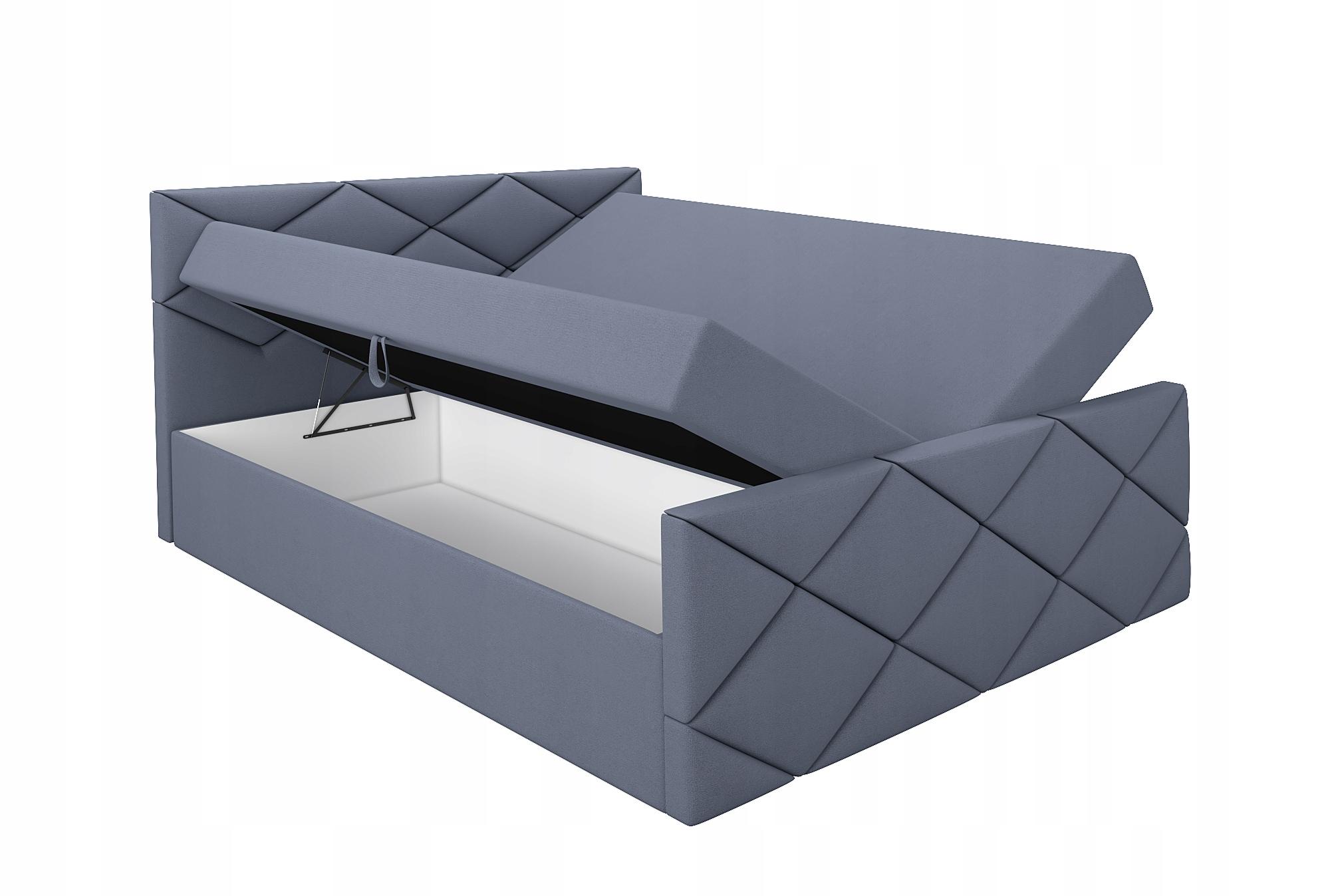 Łóżko Tapicerowane Kontynentalne LUX 120 materac Szerokość mebla 120 cm