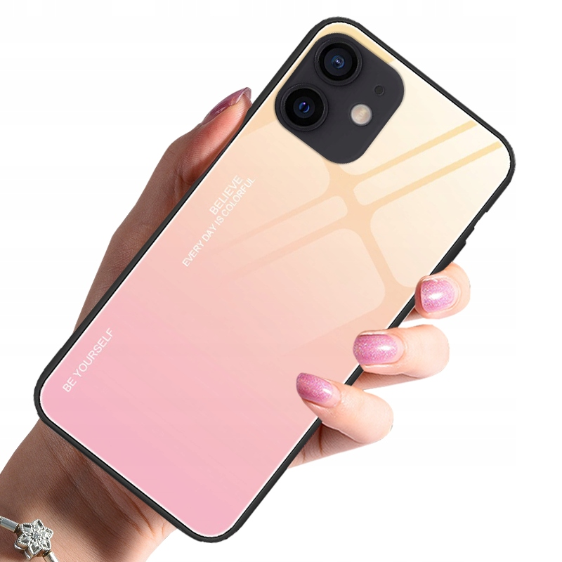 Etui do iPhone 12 Case Glass + Szkło 9H