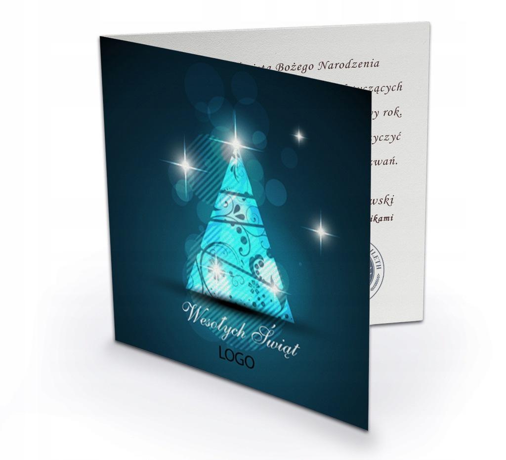 Firmowe Kartki Świąteczne druk LOGO KOPERTA wzory
