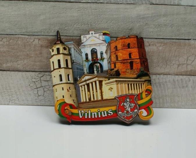 ВИЛЬНЮС / ЛИТВА - магнит на холодильник