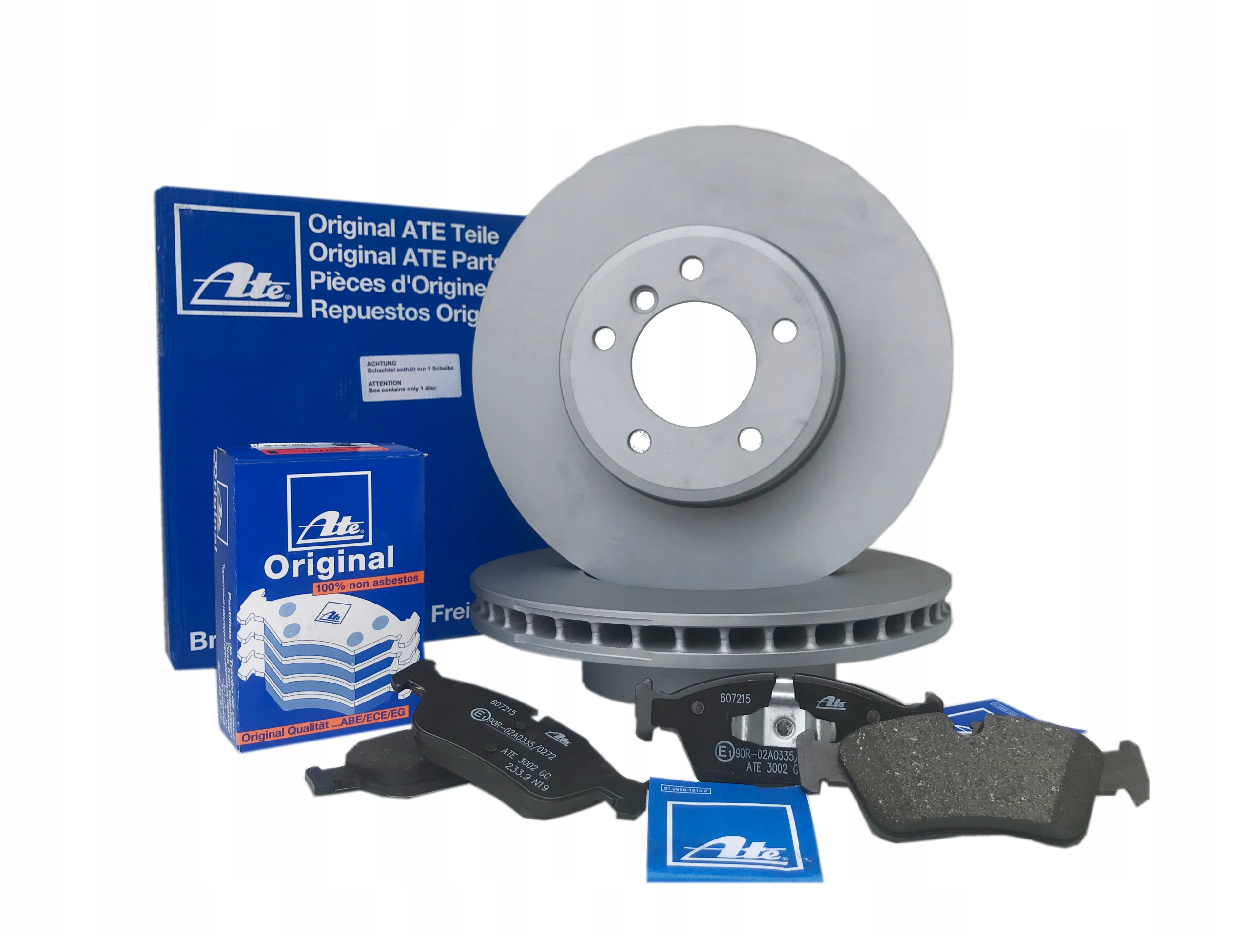 Picture of ROTORS BRAKE PADS (FRONT) ATE VW GOLF IV 1.9 TDI 110KM