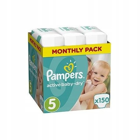 Pampers Подгузники Active Baby-dry 5 Junior 150 шт