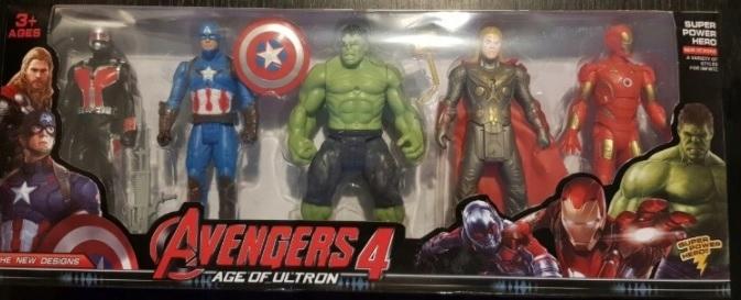 Sada Avengers Glowing 5 znakov