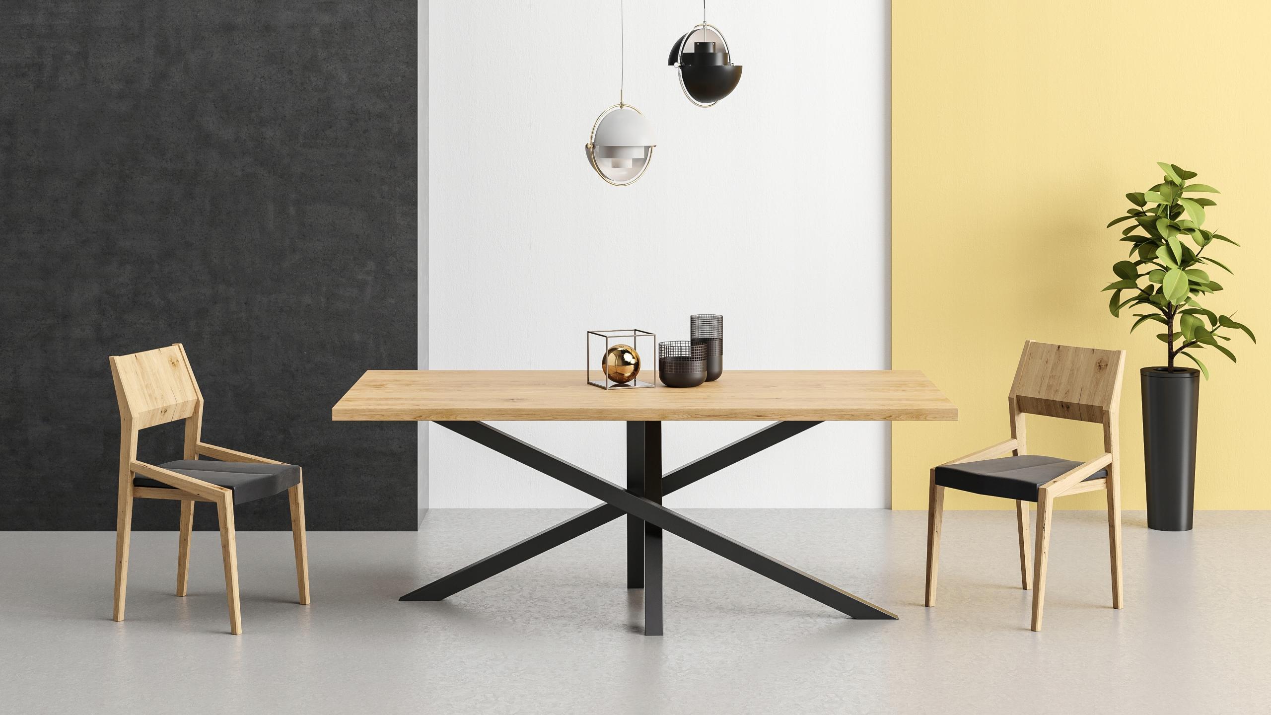 Stôl SLANT 100x120 RETRO LOFT do obývacej izby do jedálne