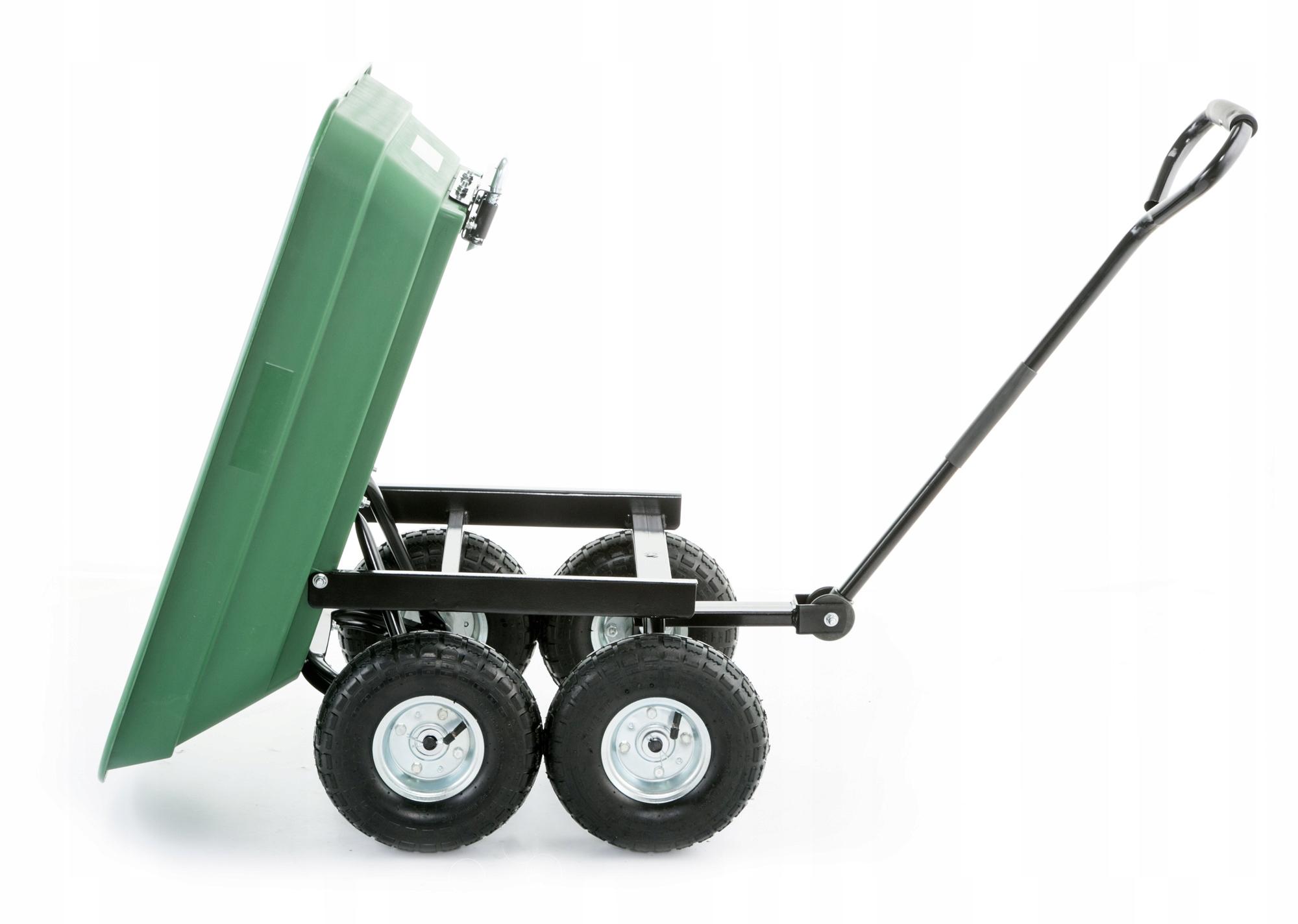 Taczka wózek ogrodowy transportowy wywrotka 350kg Kod produktu Przyczepka ogrodowa wózek z misą z tworzywa HIGHER