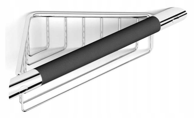 Klasický kúpeľňový rohový kôš čierny CLASSIC 16.039-B