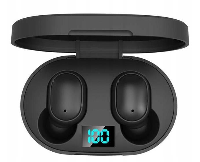 Słuchawki Bezprzewodowe 5.0 Android Powerbank Kolor czarny