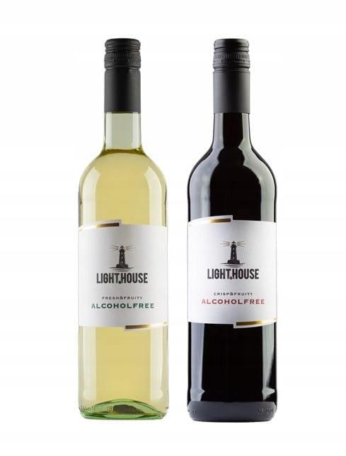 LIGHT HOUSE czerwone i białe wino bezalkoholowe 0%