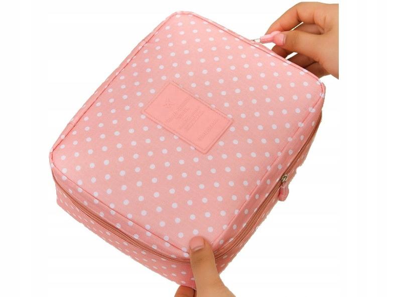 L02 Розовая косметичка ЖЕНСКИЙ органайзер для путешествий