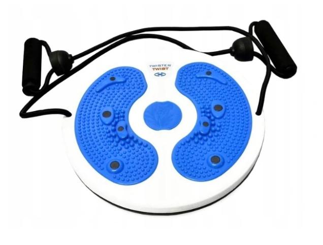 Twister rotačný pre cvičenie modrý masér