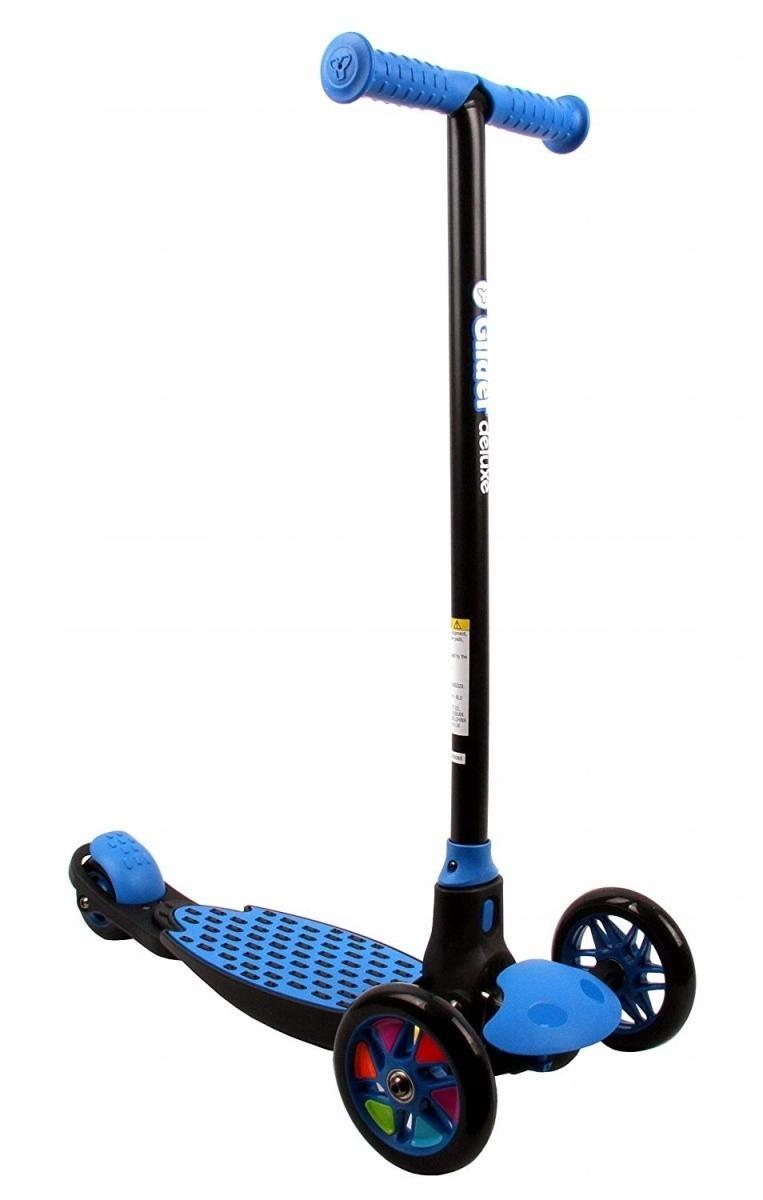 YVOLUTION Klzáku Deluxe Scooter modrá