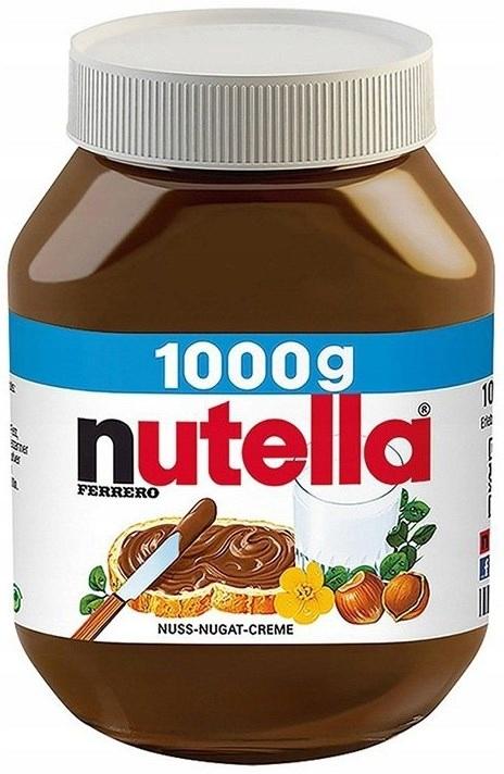 Nutella 1kg Krem czekoladowy Słoik z Niemiec
