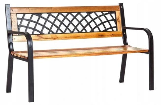 Деревянная скамейка в саду, садовый стул