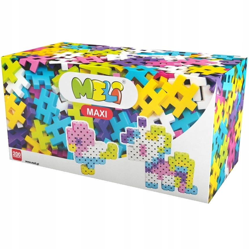 STAVEBNÉ BLOKY MELI Oblátky Maxi Pink 200 ks