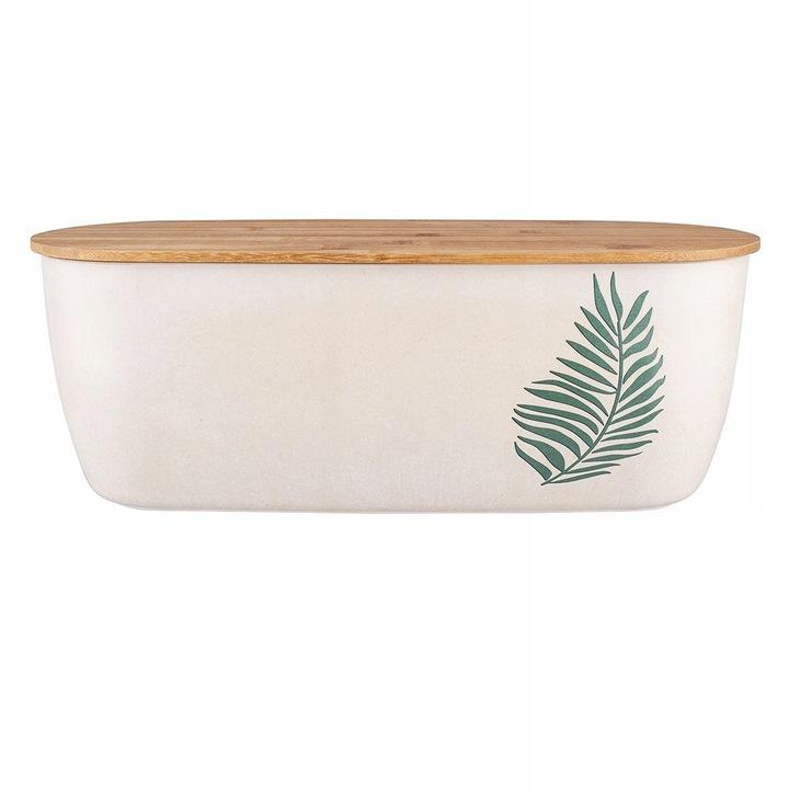 CHLEBAK BAMBUSOWY EKO POJEMNIK NA CHLEB ORGANIC XL Kolor biały brązowy zielony