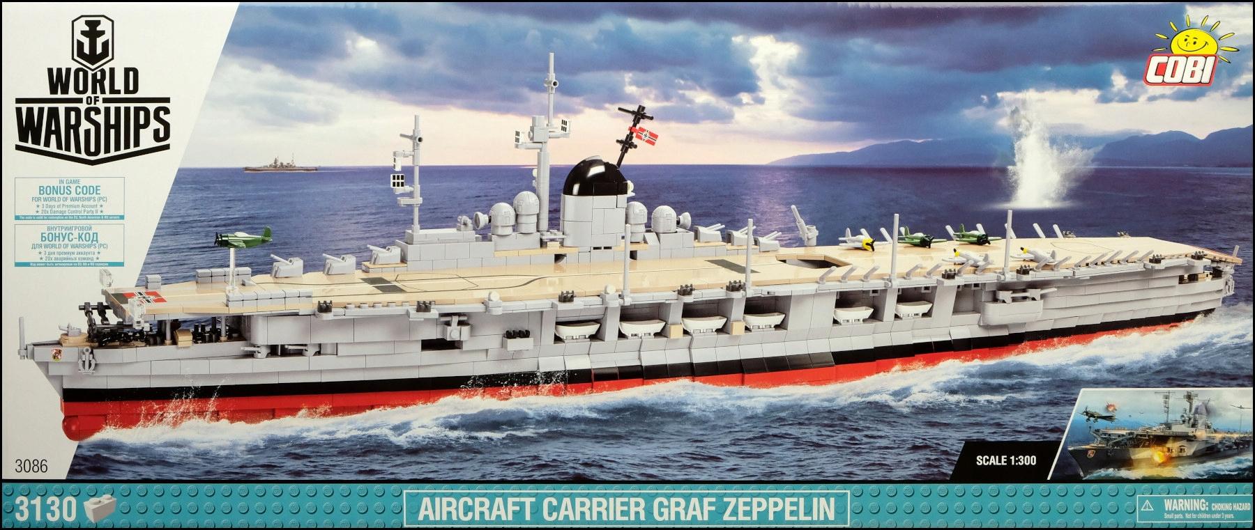 Cobi bloky pre lietadlovú loď Graf Zeppelin 3086