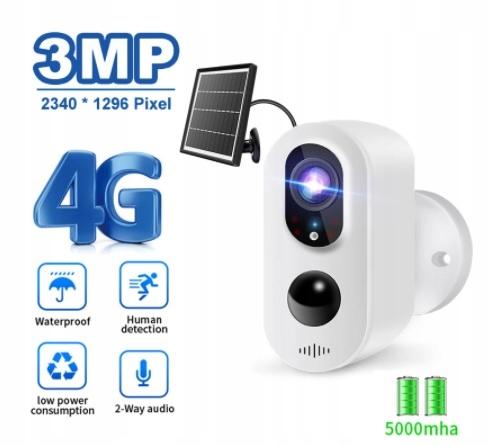 Kamera LTE 3G 4G bezprzewodowa na baterie MicroSD