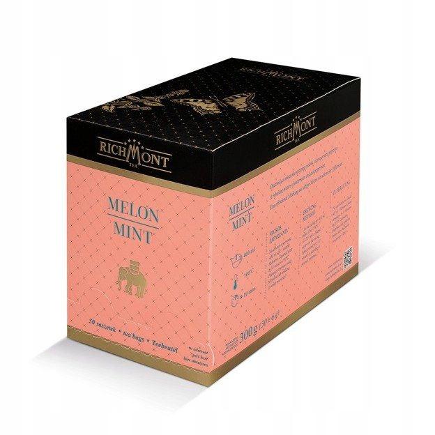 Ovocný čaj Richmont Melón Mint - 50x6g